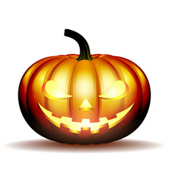 scary jack halloween pumpkin vector image