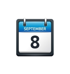 September 8 Calendar icon vector image