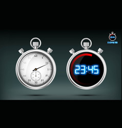 set of sports stopwatches vector image