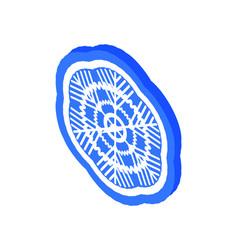 snowflake ice symbol merry christmas 3d icon vector image