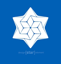 star david mono vector image