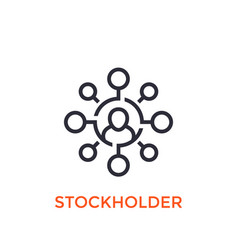 stockholder icon on white vector image