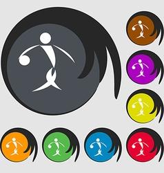 Summer sports basketball icon Symbols on eight vector
