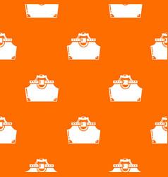 Travel bag woman pattern orange vector