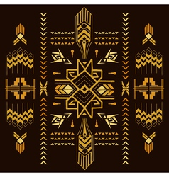 Tribal Vintage Aztec Background - hand drawn vector image