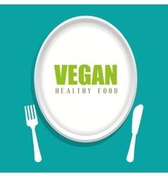 Vegan design organic icon healthy food concept vector