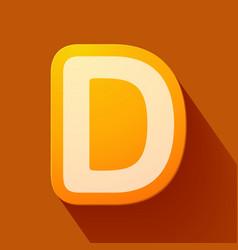 Volume icons alphabet d vector