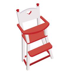wooden high chair children safe chair vector image