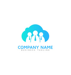 work cloud logo icon design vector image
