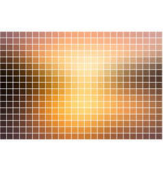 Yellow coral pink black square mosaic background vector