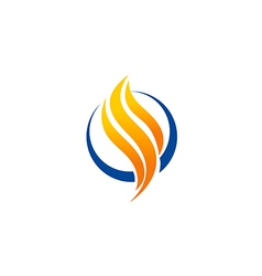 abstract fire business technology logo vector image vector image