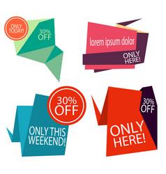 badge modern vintage design label set graphic vector image