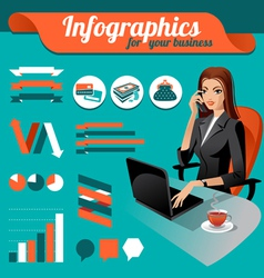 Business nfographics vector image vector image