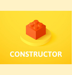 constructor isometric icon isolated on color vector image