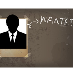 grunge wanted poster design vector image