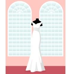 mermaid wedding dress on mannequin in saloon vector image vector image