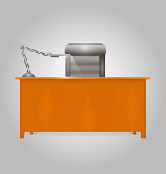 Office desk director vector