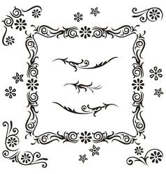 set calligraphy vector image vector image