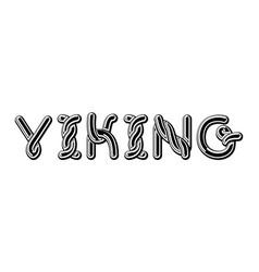 viking logo lettering celtic font norse medieval vector image vector image