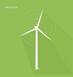 Wind turbine tower green energy logo icon vector