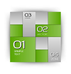 business squares green with text vector image