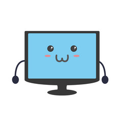 cute tv screen vector image