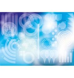 Modern virtual technology background vector image
