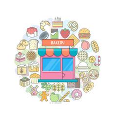 bakery shop banner vector image vector image