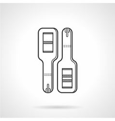 Black line icon for pregnancy tests vector image vector image