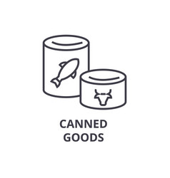 canned goods line icon outline sign linear vector image vector image