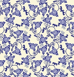 chinese porcelain background with floral pattern vector image vector image