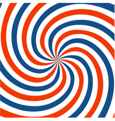 red blue and white spiral background twirl vector image