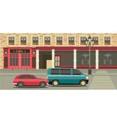 Townhouse shop vector image vector image