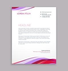 wave letterhead design vector image vector image