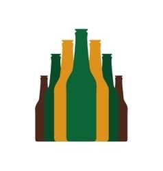 Bottles set flat icon vector image