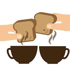 delicious breakfast vector image
