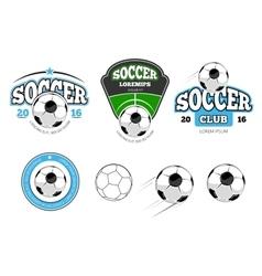 European football soccer labels emblems vector image