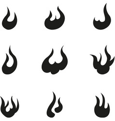 flame elements vector image vector image