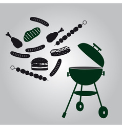 garden grill eps10 vector image vector image