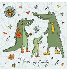I love my family vector image vector image