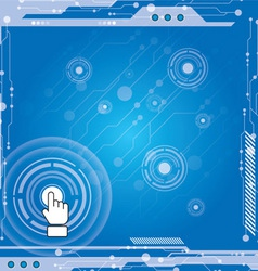 interface modern technology vector image