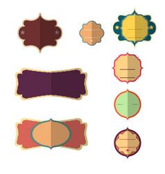 label vintage design banner tag sticker set retro vector image