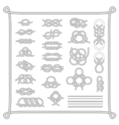 Sea boat knots set vector image