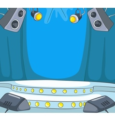 Theater Stage Cartoon vector image vector image