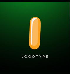 3d playful letter i kids and joy style symbol vector