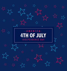 4th july background vector image
