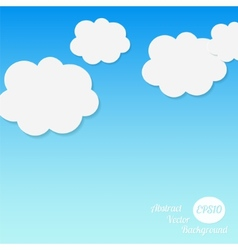 Abstract background Stylized clouds vector
