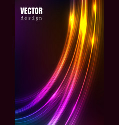 abstract background with shiny luminous lines vector image