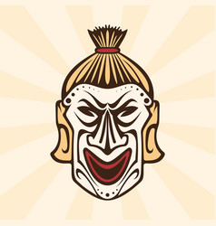 Abstract ethnic mask vector