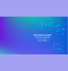 abstract technology background geometric vector image